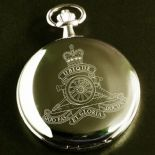 Military Pocket Watch personalised Crest Emblem, ref MCGW